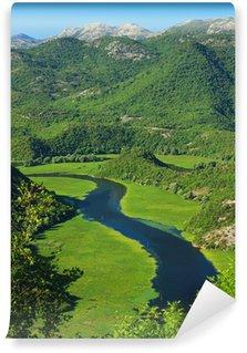 Vinyl Wall Mural Amazing view of Rijeka Crnojevica. Skadar lake national park