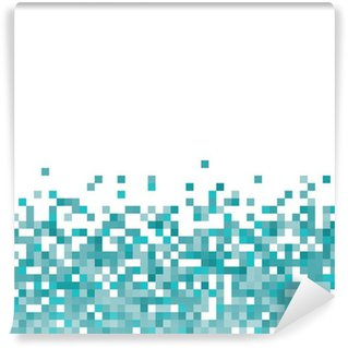 Wall Mural - Vinyl An abstract pixel art style vector background over white