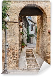 ancient alley in Bevagna, Italy