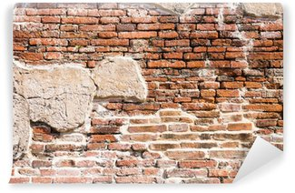 Ancient brick wall fragment Wall Mural - Vinyl