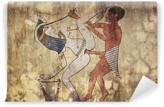 ancient Egypt - erotic drawing looks like fresco Wall Mural - Vinyl