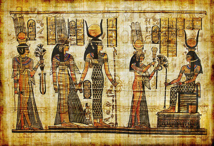 Ancient egyptian parchment wall mural vinyl pixers for Egyptian wall mural