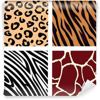 Animal pattern - tiger, zebra, giraffe, leopard. VECTOR Wall Mural - Vinyl