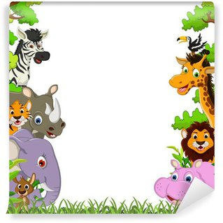 animal wildlife with tropical forest background Wall Mural - Vinyl