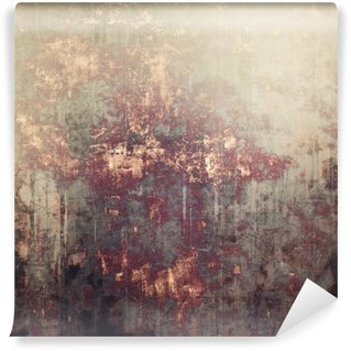 Wall Mural - Vinyl Antique vintage textured background. With different color patterns: yellow (beige); brown; gray; black