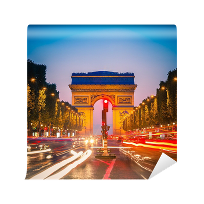 Arc de triomphe paris wall mural pixers we live to for Arc de triomphe wall mural