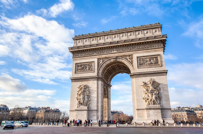 Arc de triomphe vinyl wall mural pixers we live to change for Arc de triomphe wall mural