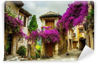 art beautiful old town of Provence Wall Mural - Vinyl
