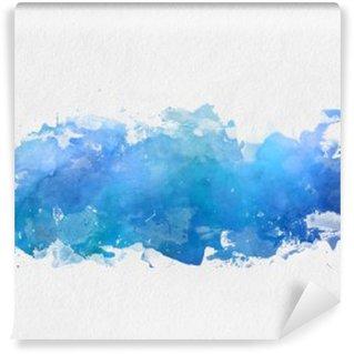 Artistic blue watercolor splash effect template Wall Mural - Vinyl