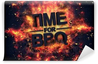 Vinyl Wall Mural Artistic dramatic poster for - Time for BBQ