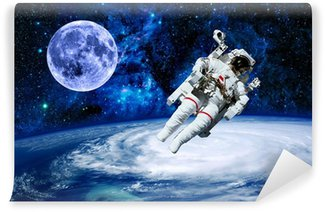 Astronaut Earth Moon Space Wall Mural - Vinyl
