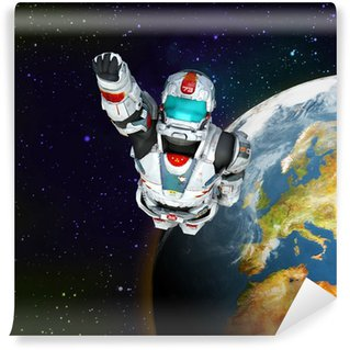 astronaut hero - flying out Wall Mural - Vinyl