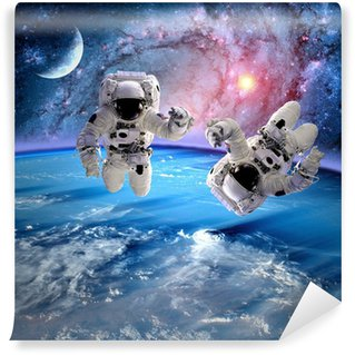 Astronaut Spaceman Planet Moon Wall Mural - Vinyl
