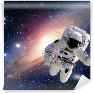 Astronaut spaceman suit outer space solar system people universe. Elements of this image furnished by NASA. Wall Mural - Vinyl