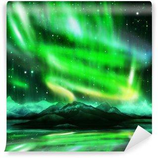 Wall Mural - Vinyl aurora borealis