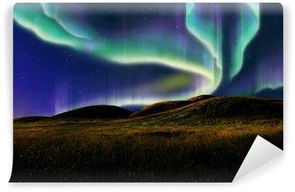 Wall Mural - Vinyl aurora on field