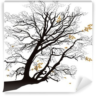 Tree branch living room contemporary pixers we for Autumn tree mural