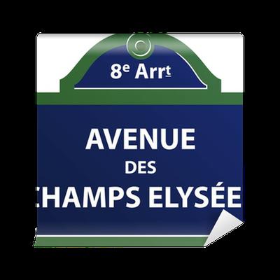 avenue des champs elys es wall mural pixers we live. Black Bedroom Furniture Sets. Home Design Ideas