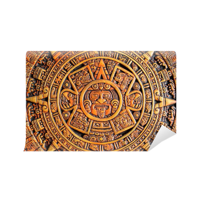 Aztec calendar wall mural pixers we live to change for Aztec mural painting