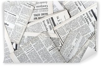 Wall Mural - Vinyl background of old vintage newspapers