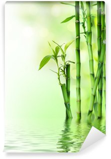 Wall Mural - Vinyl bamboo stalks on water
