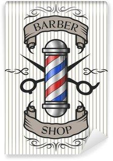 Barber shop emblem. Wall Mural - Vinyl