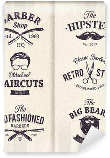 Barber Shop Emblems Wall Mural - Vinyl