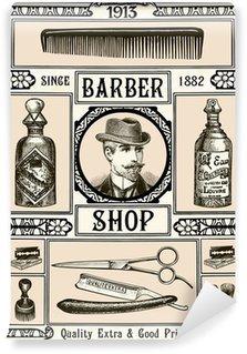 Barber Shop Wall Mural - Vinyl