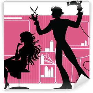 Barber Wall Mural - Vinyl