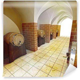Wall Mural - Vinyl barrels of alcohol drink underground cellar