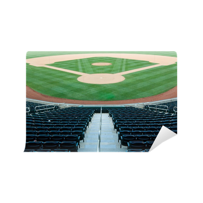 Baseball stadium wall mural pixers we live to change for Baseball field wall mural