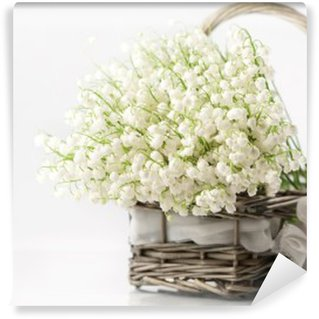Basket with lilies of the valley Wall Mural - Vinyl