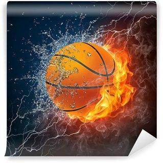 Wall Mural - Vinyl Basketball Ball
