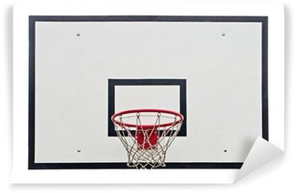 Wall Mural - Vinyl Basketball hoop on white background