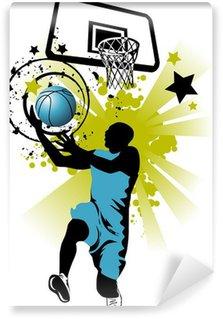 Wall Mural - Vinyl basketball in blue