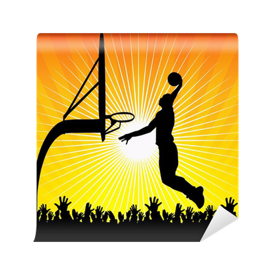 Basketball player and crowd wall mural pixers we live for Crowd wall mural