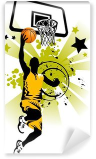 Wall Mural - Vinyl basketball player in yellow