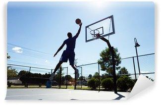 Wall Mural - Vinyl Basketball Player Silhouette