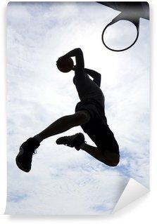 Wall Mural - Vinyl Basketball Player Slam Dunk Silhouette