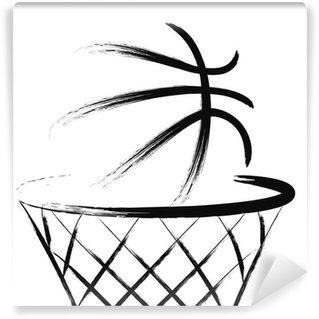 Wall Mural - Vinyl Basketball, vector