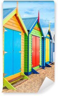 Vinyl Wall Mural Bathing boxes at Brighton Beach, Australia