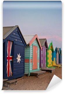 Vinyl Wall Mural Bathing boxes at Brighton Beach in Melbourne