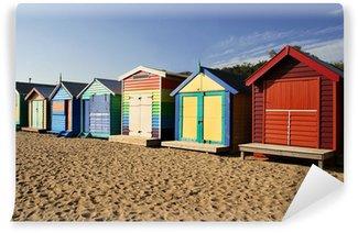 Vinyl Wall Mural Bathing boxes at Brighton beach, Melbourne