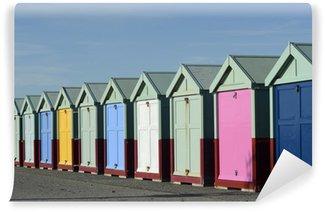 Vinyl Wall Mural Beach huts on Brighton seafront. England