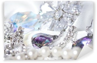 Wall Mural - Vinyl Beautiful jewelry on background