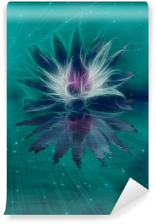 Beautiful Lotus Flower Abstraction Wall Mural - Vinyl