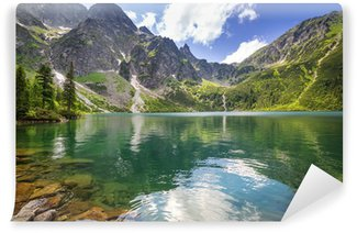Wall Mural - Vinyl Beautiful scenery of Tatra mountains and lake in Poland