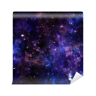 Beautiful Space Background Night Sky With Stars Wall