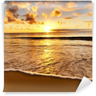 Wall Mural - Vinyl beautiful sunset on the beach