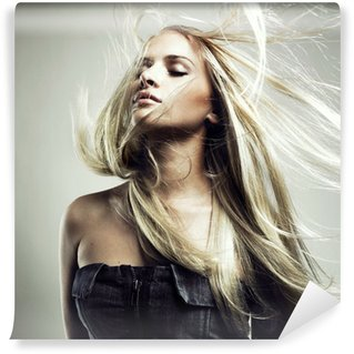 Wall Mural - Vinyl Beautiful woman with magnificent hair